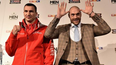Tyson Fury and Wladimir Klitschko