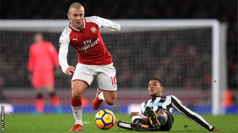 Arsenal's Jack Wilshere in action