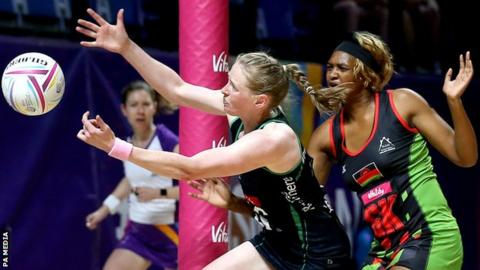 Netball World Cup 2019: Northern Ireland's top-eight hopes hit by Malawi defeat