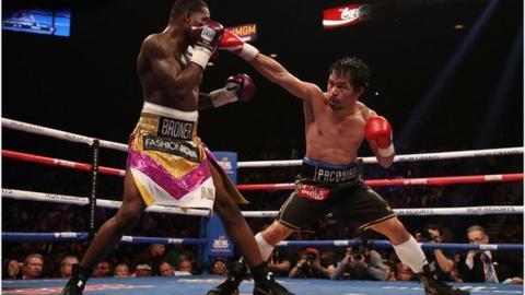 Manny Pacquiao beat Adrian Broner in Las Vegas