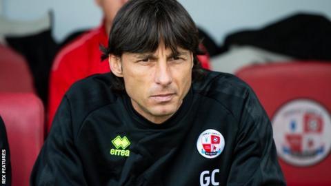 Crawley Town head coach Gabriele Cioffi