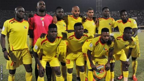 The Benin football team in November 2015