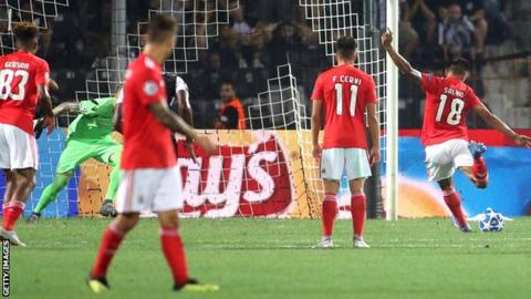 Eduardo Salvio scored for Benfica