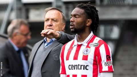 Miquel Nelom in action for Sparta Rotterdam last season