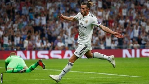 real madrid 3 0 roma gareth bale scores in champions league win