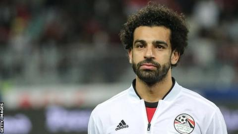 Mohamed Salah in Egypt tracksuit