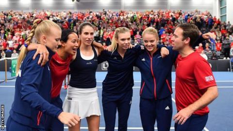 GB Fed Cup team