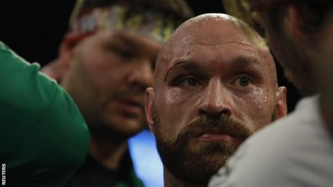 Tyson Fury v Otto Wallin: Bloodied British fighter takes points victory over battling Swede