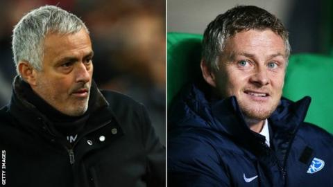 Jose Mourinho and Ole Gunnar Solskjaer