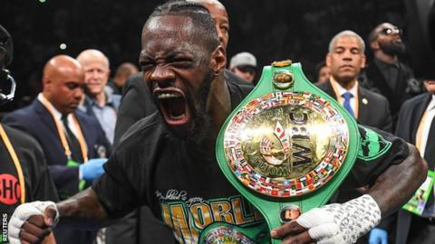 Wilder has 41 wins and one draw as a professional