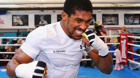 British heavyweight boxer Anthony Joshua