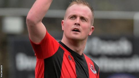 Jordan Owens was on target as Crusaders beat Ballymena to reach the last four