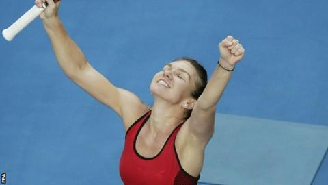 Simona Halep won in 79 minutes