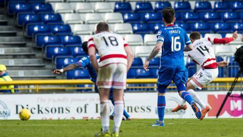 Carlton Morris scores the winner for Hamilton