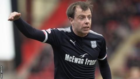 Dundee midfielder Paul McGowan