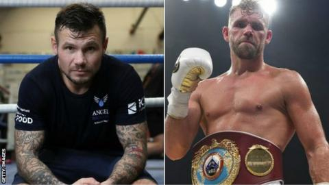 Saunders (right) has called his fight with Murray off twice