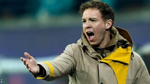 Hoffenheim manager Julian Nagelsmann saw his team draw 1-1 at RB Leipzig