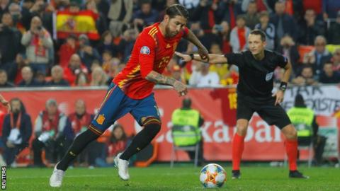 Luis Enrique hails 'unique' Sergio Ramos as Spain beat Norway