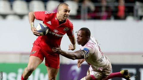 Simon Zebo becomes the third Ireland player within the last week to commit his future to Munster