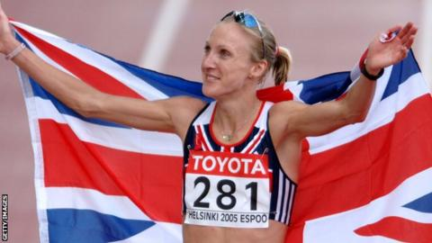 Paula Radcliffe won gold at the 2005 world championships