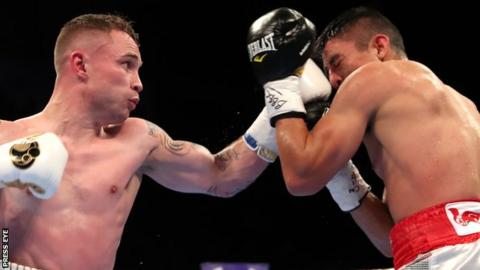 Frampton earned a hard-fought points win over Garcia after 10 months out of the ring
