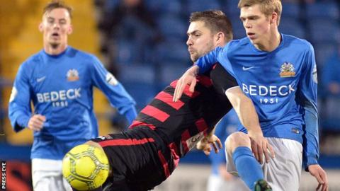 Coleraine and Glenavon will clash at the Ballymena Showgrounds in the semi-finals