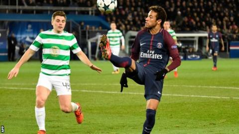 Paris St-Germain 7-1 Celtic: Brendan Rodgers praises visitors' efforts