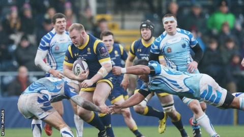 Prop Mike Daniels made 34 appearances for Worcester Warriors