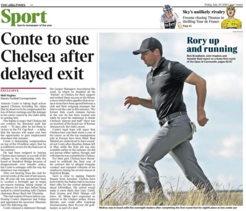 The Times back page