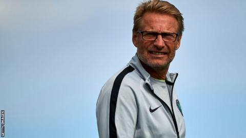 Nigeria women's coach Thomas Dennerby