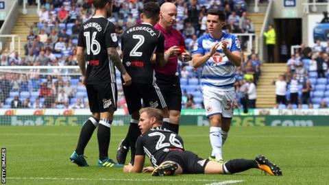 Tomas Kalas sent off after just 39 seconds for Fulham v Reading