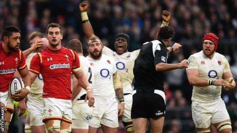 England beat Wales at Twickenham in 2016