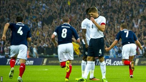 Scotland will return to Wembley to face England in the World Cup qualifiers