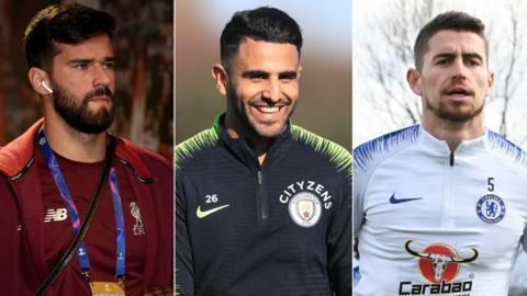 Alisson, Riyad Mahrez & Jorginho