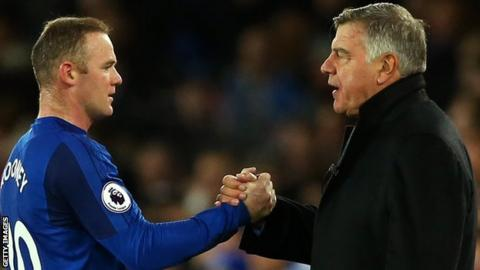 Sam Allardyce with Wayne Rooney