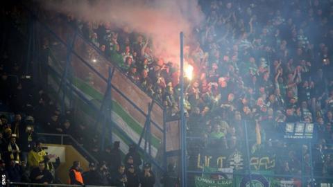 Celtic fans in Istanbul