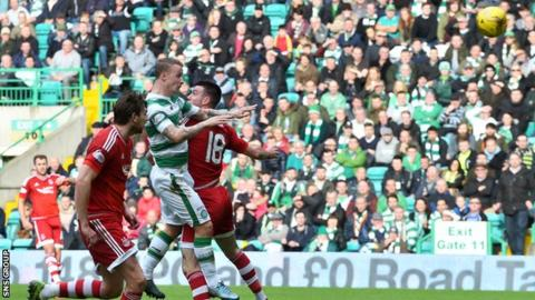 Leigh Griffiths heads Celtic in front