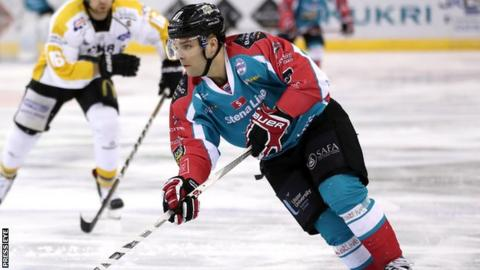 David Rutherford scored a hat-trick for the Belfast Giants