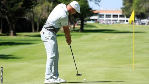 Bryson DeChambeau in the second round at the WGC-Mexico Championship
