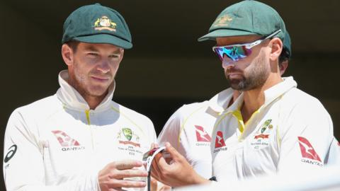 Tim Paine and Nathan Lyon