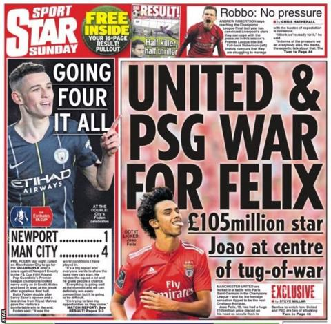 Sunday's Star back page