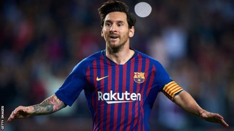 Barcelona striker Lionel Messi