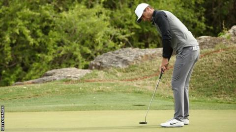 Lucas Bjerregaard against Tiger Woods