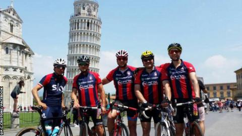 Davide Nicola and travelling companions