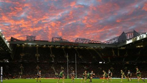 The 2013 Rugby League World Cup final at Old Trafford