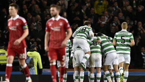 Ryan Jack and Graeme Shinnie in the League Cup final against Celtic