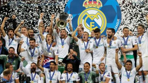 Real Madrid beat Liverpool in the Champions league final to win the competition for a third successive year