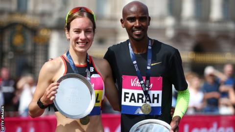 Steph Twell and Mo Farah