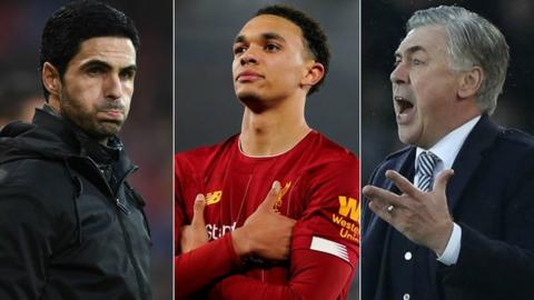 Arteta's Arsenal drew, while Alexander-Arnold shone for Liverpool and Ancelotti enjoyed a first win with Everton