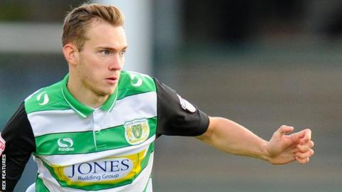 Ryan Hedges in action for Yeovil